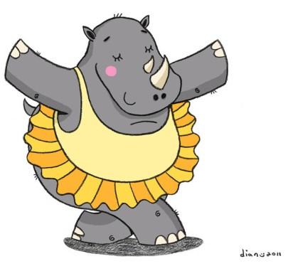 Rhino dancing